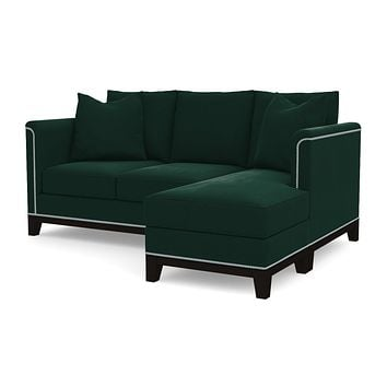 La Brea Reversible Chaise Sleeper Sofa :: Leg Finish: Espresso / Sleeper Option: Deluxe Innerspring Mattress