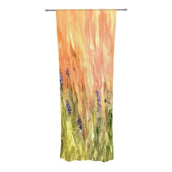 Welcome Spring Abstract Semi-Sheer Curtain Panels