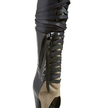 Women's Ivy Kirzhner 'Alps' Open Toe Over the Knee Boot,