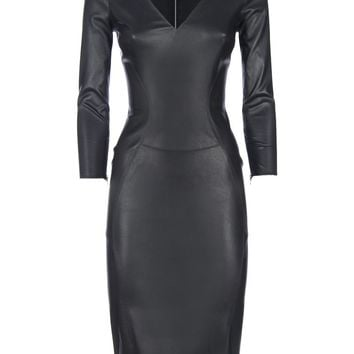APHERO Sheath leather dress