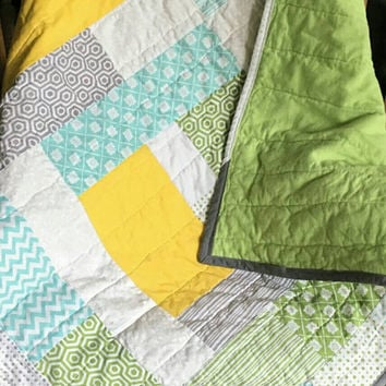 baby quilts handmade -  homemade quilts for sale -  baby boy quilt - patchwork quilt  - toddler quilt -  crib quilt - baby bedding