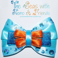 The Seas with Nemo and Friends Hair Bow by MickeyWaffles on Etsy
