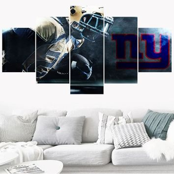 5 Pcs Sport Poster Paintings New York Giants Modern Home Decor Living Room Bedroom Wall Art Canvas Print Painting Calligraphy