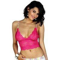 Fuchsia Pink Lace Camisole | FOXERS Watercolors Straps