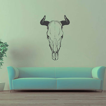 kik3223 Wall Decal Sticker Skull animal cow living room bedroom