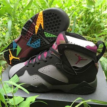 CREYONVX Nike Air Jordan Retro 7 VII 'Bordeaux' Grade School Women Sports Basketball Shoes