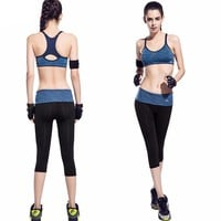 New Women Yoga Fitness Seamless Elasitic Gym Running Sportswear Sets and Jogging Bodybuilding Racerback Suits For Women