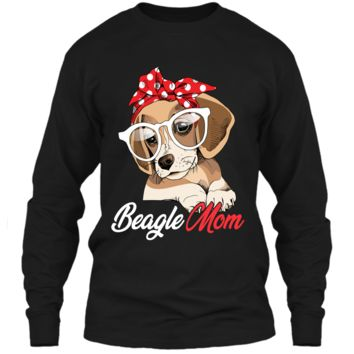 Beagle Mom Shirt for Beagle Dogs Lovers-Mothers Day Gift LS Ultra Cotton Tshirt