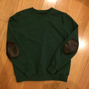 Apc Forest Green Elbow Patch Sweater (A.P.C)