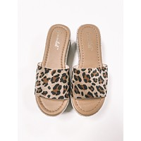 Chrissy Wedge Leopard Sandals