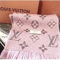 LV Louis Vuitton Classic Popular Women Men Cashmere Cape Scarf Scarves Shawl Accessories Pink
