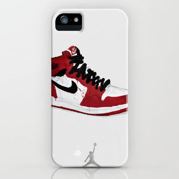 Nike Air Force 1 - Retro - Red & Black & White iPhone Case by John Kappa | Society6