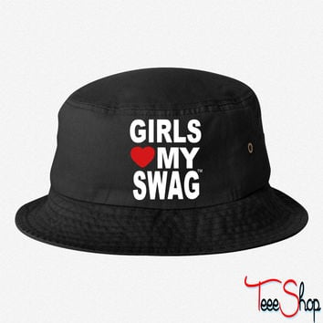 GIRLS LOVE MY SWAG bucket hat