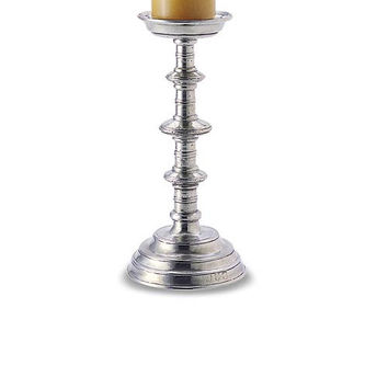 Match Pewter Castello Pillar Candlestick