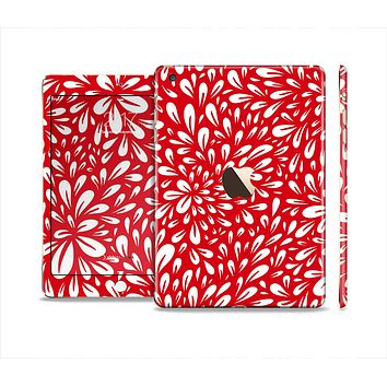 The Red Floral Sprout Full Body Skin Set for the Apple iPad Mini 3