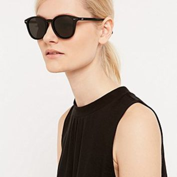Le Specs Rubber Bandwagon Sunglasses in Black - Urban Outfitters