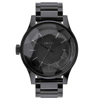 Nixon A384001 Women's Facet 42 Black Dial Black IP Steel Bracelet Lefty Watch