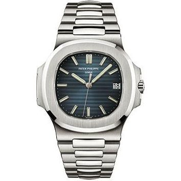 Patek Philippe - Nautilus Mens - Stainless Steel - 43 mm x 38 mm