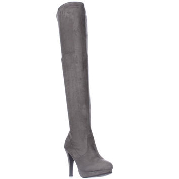Report Nadya Pull On Platform Tall Slouch Boots - Grey