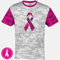 Sleefs BCA Pink Ribbon Gray, White and Pink Ribbon Quick-Dry Jersey