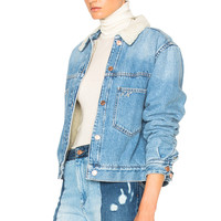Isabel Marant Etoile Camden Denim Jacket in Light Blue | FWRD