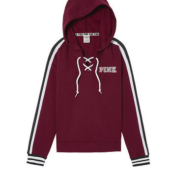 Lace-Up Hoodie - PINK - Victoria's Secret