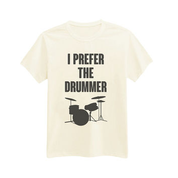 004 - I Prefer The Drummer - Ash XX - Ashton Irwin - 5SOS - 5 Seconds Of Summer - Printed T-Shirt - by HeartOnMyFingers