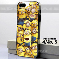 Despicable Me Minion Cute - Hard Cover - For iPhone 4 / 4S , iPhone 5 - Black / White Case