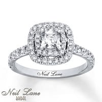 Neil Lane Engagement Ring 1 1/8 ct tw Diamonds 14K White Gold