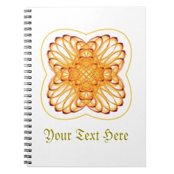 Symmetric pattern notebook