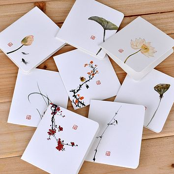Chinese Style Folding Greeting Card