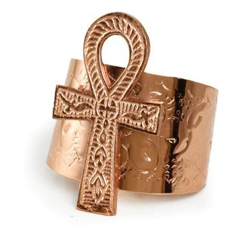 Large Ankh Cuff: Copper, Gold, or Silver