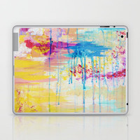 BRIGHTER DAYS - Beautiful Soft Pastel Colours Painting Rain Cloud Sunny Sky Abstract Nature Acrylic Laptop & iPad Skin by EbiEmporium