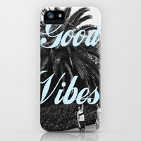 good vibes iPhone Case by Hannah Theurer | Society6