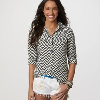 AE Drapey Button-Down | American Eagle Outfitters