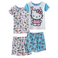 Hello Kitty 4-pc. Glitter Pajama Set