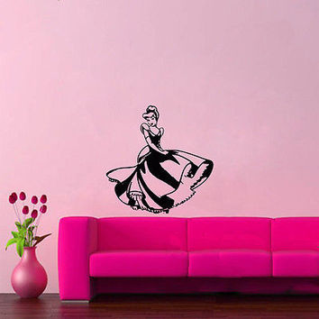 Wall Mural Vinyl Sticker Decal CINDERELLA DRESS SHOE DA877