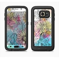 The Colorful WaterColor Floral Full Body Samsung Galaxy S6 LifeProof Fre Case Skin Kit
