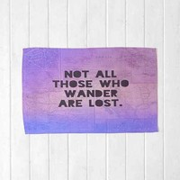 Leah Flores For DENY Those Who Wander Rug- Purple 2X3