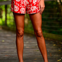 Aflorable Shorts, Red