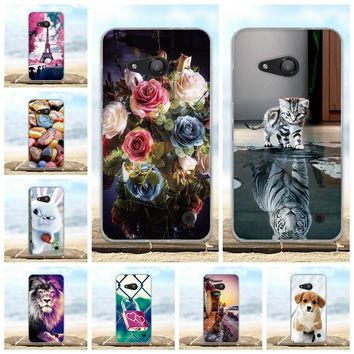 For Microsoft Nokia Lumia 550 Case Soft Silicone TPU Fundas Coque For Nokia Lumia 550 Phone Cases 3D Cute Animal Bags Shell