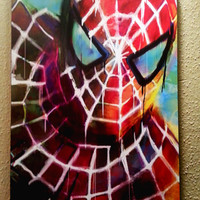 "Spiderman Art Panel; Archival Quality 11""x17"" Art Print, mounted on board  **EXPRESS SHIPPING AVAILABLE**"
