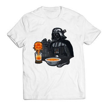 Darth Vader Star Wars BreakFast Movie Clothing T shirt Men