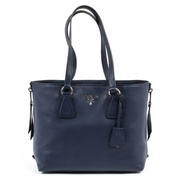 Prada Womens Handbag 1BG099 2E8K F0216 VITELLO PHENIX BALTICO