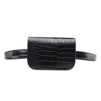 waist bag Women Alligator Waist Pack Travel Belt Wallets