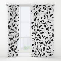 Pandas x 9999 Window Curtains by lalainelim
