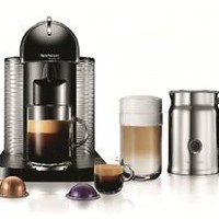 Nespresso VertuoLine Coffee And Espresso Maker With Aeroccino Plus Milk Black