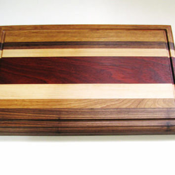 Solid Wood Cutting Board Maple Walnut Cherry Paduak