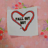 Fall Out Boy Heart Patch