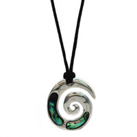 Spiral Abalone Shell Necklace
